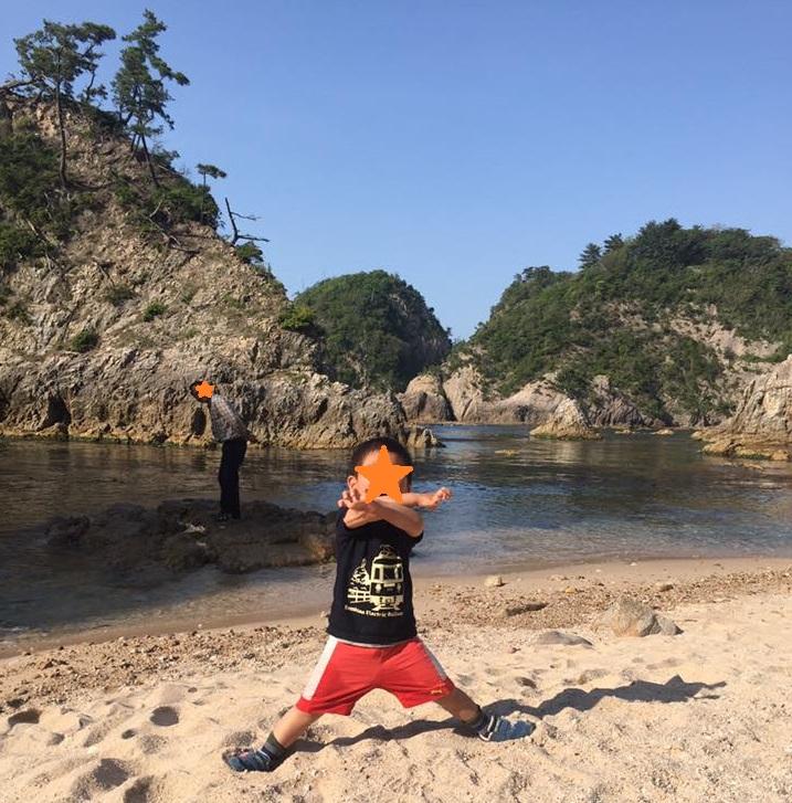 鳥取で磯遊び@浦富海岸近くの網代