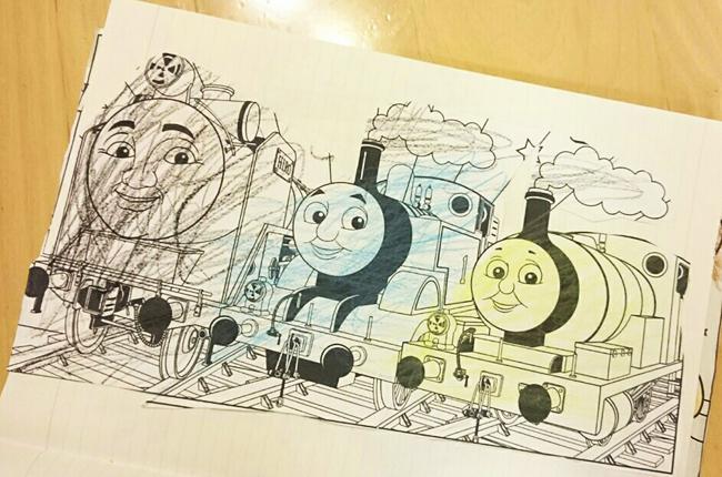 トーマスの塗り絵