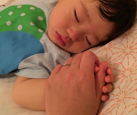子どもの寝顔