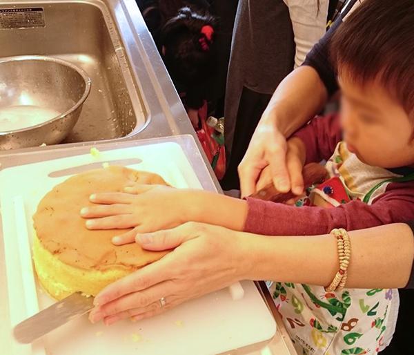 クリスマスケーキ作り1