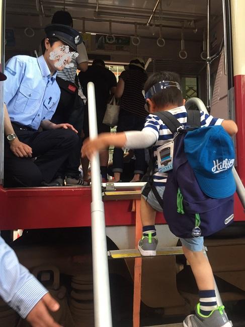 京急フェスタの非常はしご体験