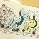 機関車トーマスの塗り絵を毎月ダウンロード☆