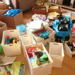 長男と一緒におもちゃの断捨離をしました
