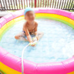 暑い!!!自宅プールが大活躍です