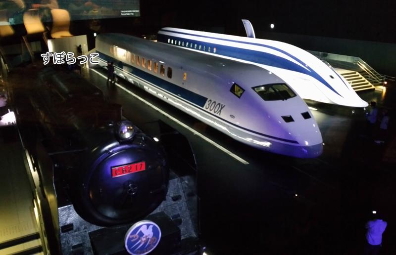 リニア鉄道館の車両展示(SL・新幹線の試験車両・超伝導リニア)